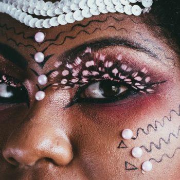 false eyelashes pink feather