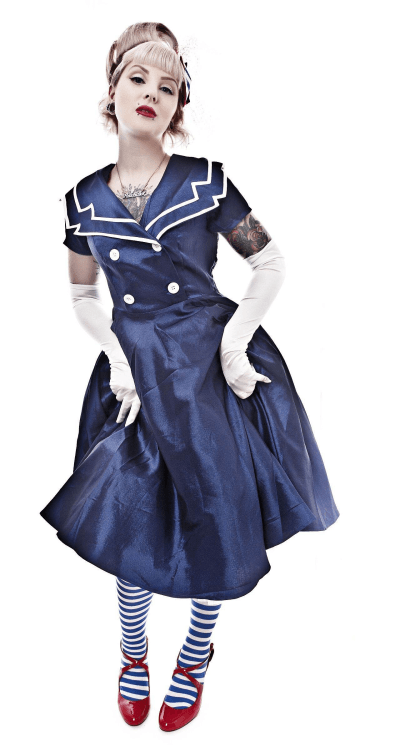 blue sailor dress