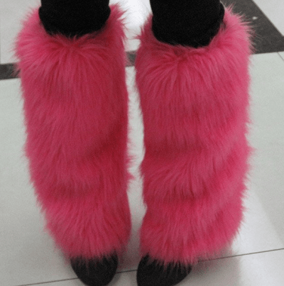 How to make furry leg warmers for Furry craft