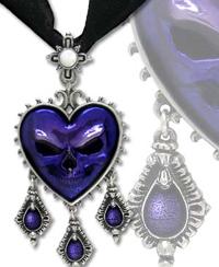 Alchemy Gothic skull necklace from GlitterGoth