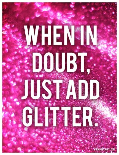 glitter life hacks