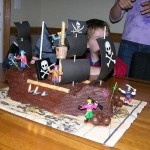 how to make a pirate ship cake