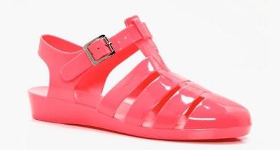 jelly shoe boohoo pink