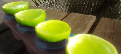 Jelly tequila limes