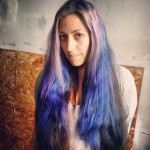 ombre dyed hair tips
