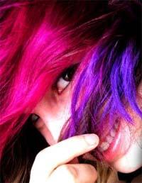 Pink hair and pink hair dye