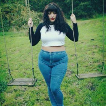 plus size retro jeans