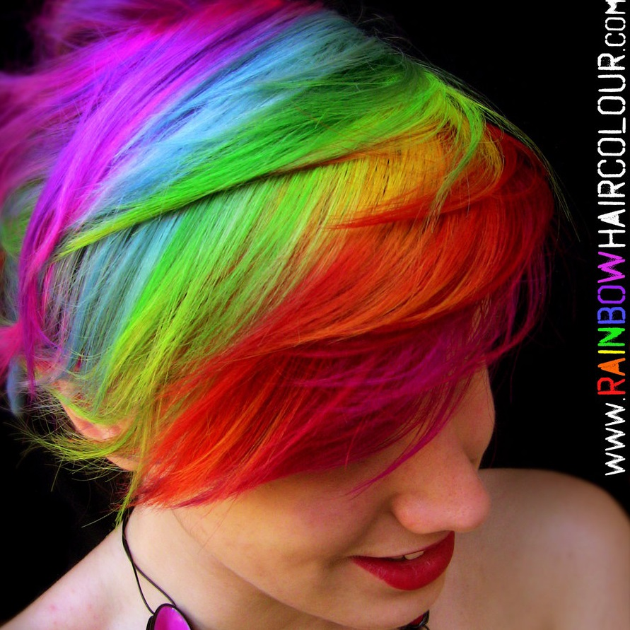 alternative hair colour - rainbow hair colour