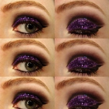 smoky glitter eye makeup tutorial