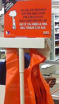 no plastic bags in sainsburys supermarkets