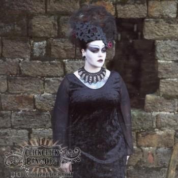 gothic morticia dress