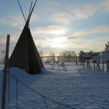 hetta-huskies-farm-sunrise