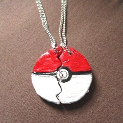 How to make a Pokémon ball friendship necklace