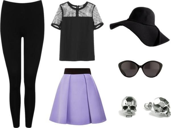 androgynous fashion - feminine gothic set