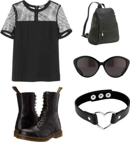 masculine and feminine gothic fashion