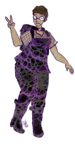 Androgynous gothic fashion