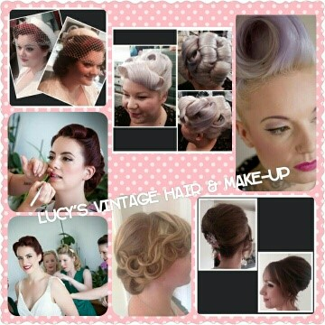 Lucy's vintage hair and makeup