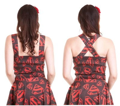 superman comic skater dress adjustable straps