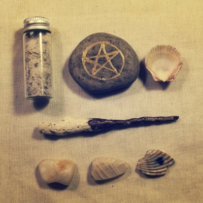 portable altar water witch