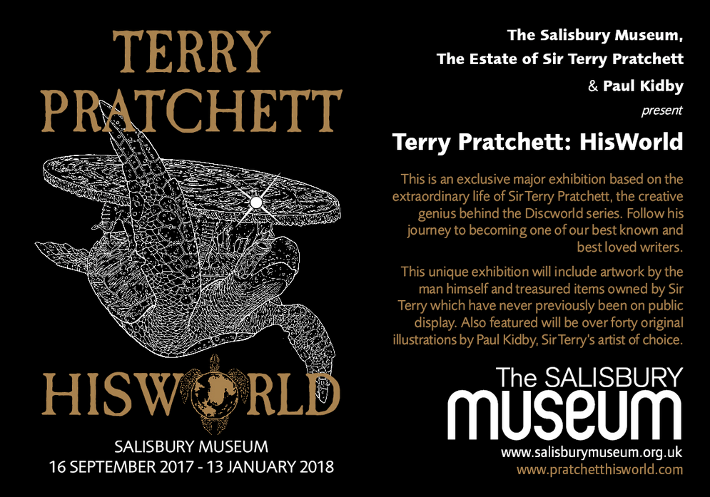 terry pratchett hisworld exhibition twitter