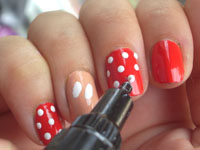 Minnie mouse nail art tutorial nail art designs minnie mouse prinsesfo Image collections